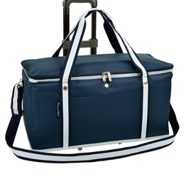 Picnic at Ascot Leakproof 24 Hour Cooler On Wheels - Navy