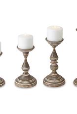 """Fluted Tin Candlesticks - 9.75"""""""