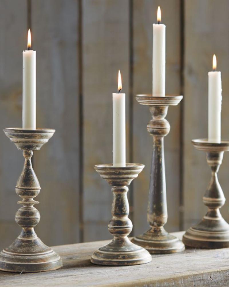 """Fluted Tin Candlesticks - 8.25"""""""