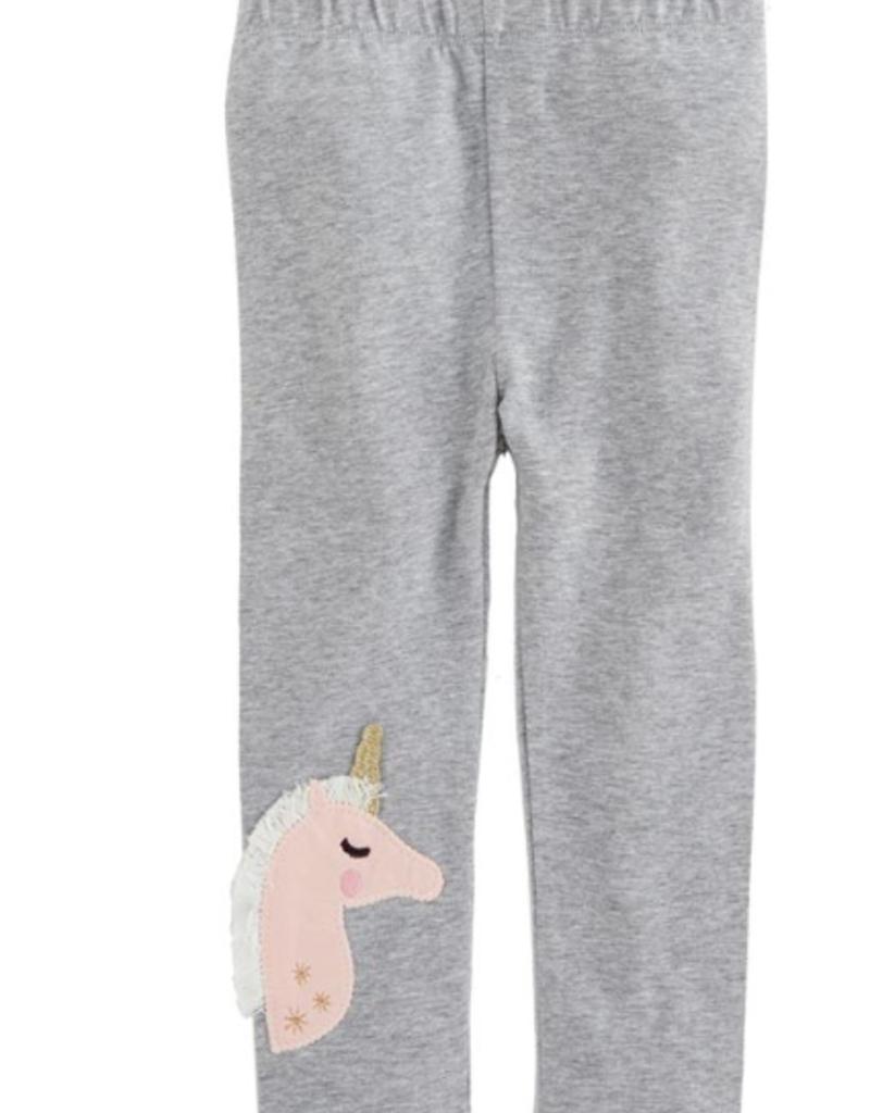 Gray Unicorn Leggings - Small