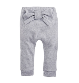 Gray Infant Bow Pants - 6-9 Months