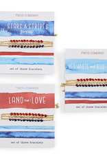 Red, White & Blue Tie-On Bracelets - Assorted Designs