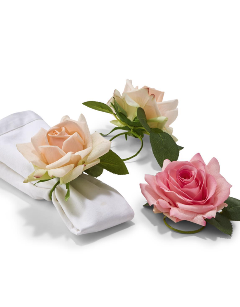 Rose Flower Napkin Ring - Single