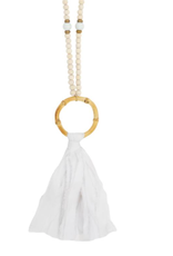 White Tassel Bamboo Necklace
