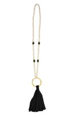 Black Tassel Bamboo Necklace