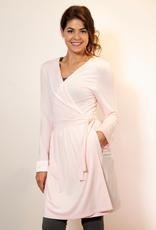 Pink Bamboo Wrap Robe -  Small/Medium