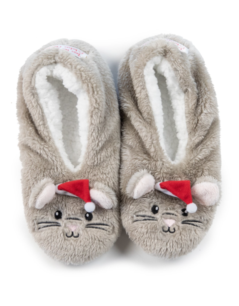 Night Before Christmas Mouse Footsies - Small (5-6)
