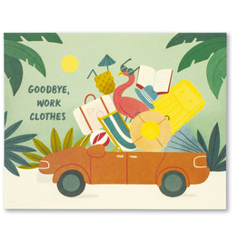 Goodbye, Work Clothes Retirement Card
