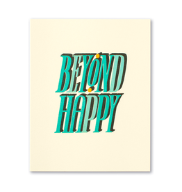 Beyond Happy Engagement & Wedding Card