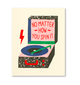 No Matter How You Spin It. Thank You Card