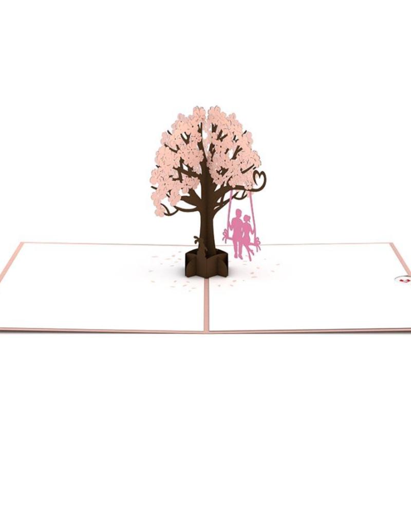 Lovepop Lovers on a Swing Pink 3D Card