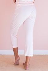 Pink Bamboo Capri Pants - Small