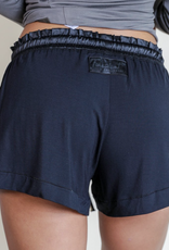 Black Bamboo Short Shorts - Small