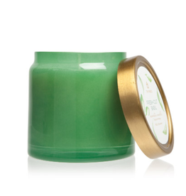 Thymes Fresh-Cut Basil Glass Jar Candle