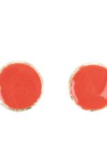 Orange Enamel Earrings