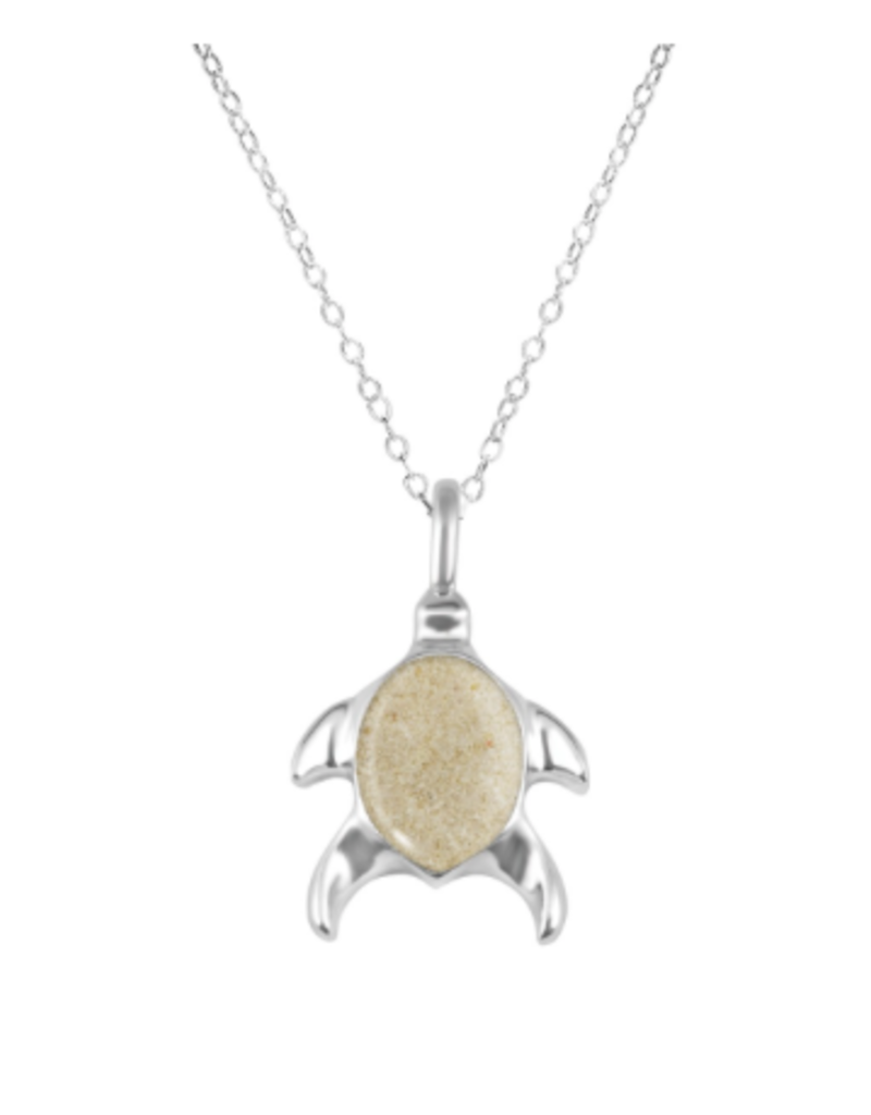 Dune Jewelry Sterling Silver Turtle Necklace - Elbow Cay, Bahamas