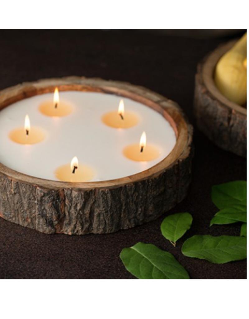 Himalayan Trading Post Tree Bark Candle Tobacco Bark - Large 5-Wick