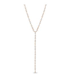 """Crislu Lavish Y-Shaped CZ Necklace Finished in 18kt Rose Gold - 9.70 cttw - 16"""""""