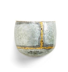 Golden Touch Galvanized Wall Planters - Small