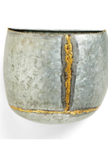 Golden Touch Galvanized Wall Planters - Large