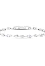 """Crislu Lavish Cubic Zirconia Tennis Bracelet Pure Platinum Finish - 2.70 cttw - 7"""""""