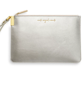 Katie Loxton Secret Message Pouch - Create Magical Moments - There's Always Time to Shine