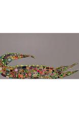 "Alligator On Gray Canvas Wall Art - 48""x24"""
