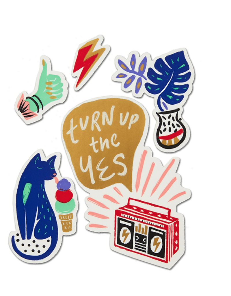Turn Up the Yes Stickers