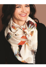 """Feather Scarf 26""""Wx72""""L"""