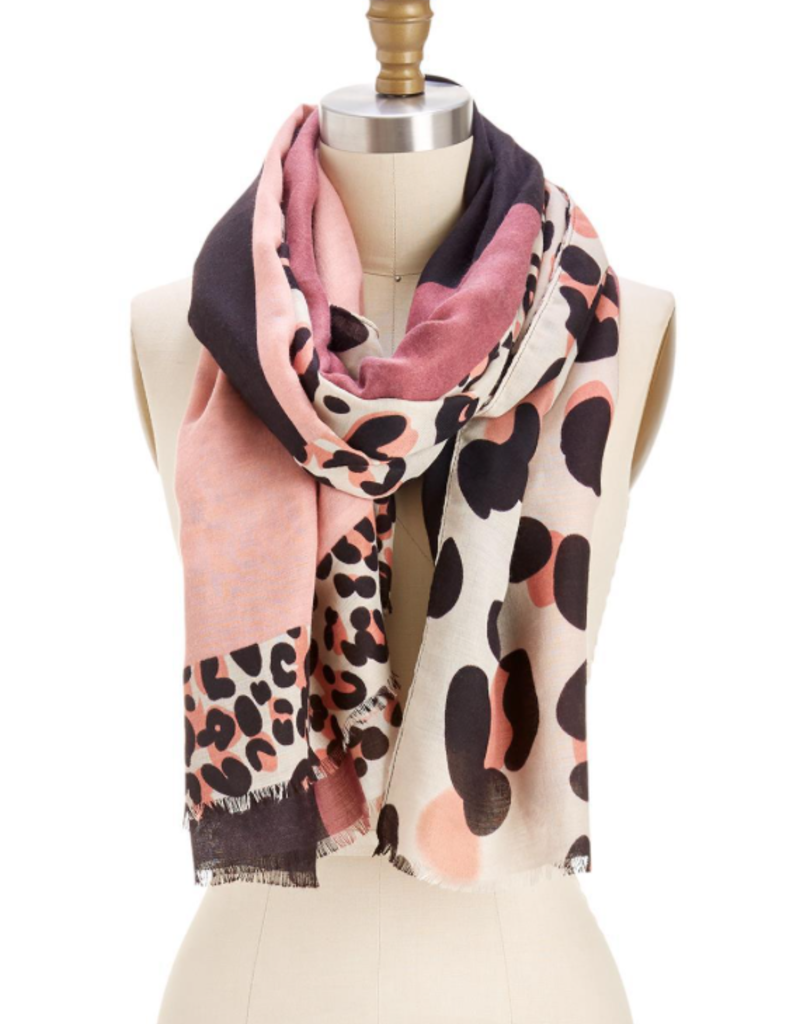 Patchwork Leopard Scarf/Sarong - Assorted Colors