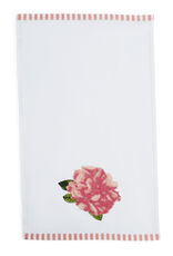 Rosy Dishtowel with Embroidery