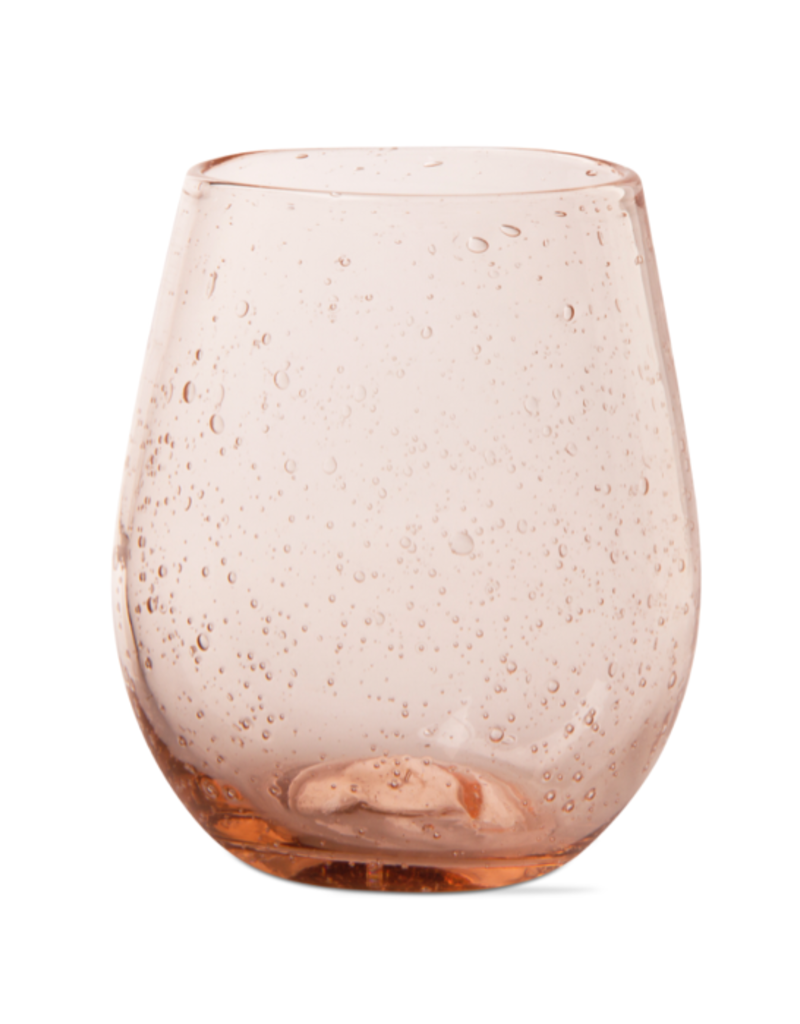 Bubble Glass Stemless Wine Glass - Rose