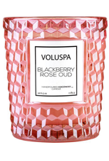 Voluspa Boxed Classic Textured Glass Candle - Blackberry Rose & Oud
