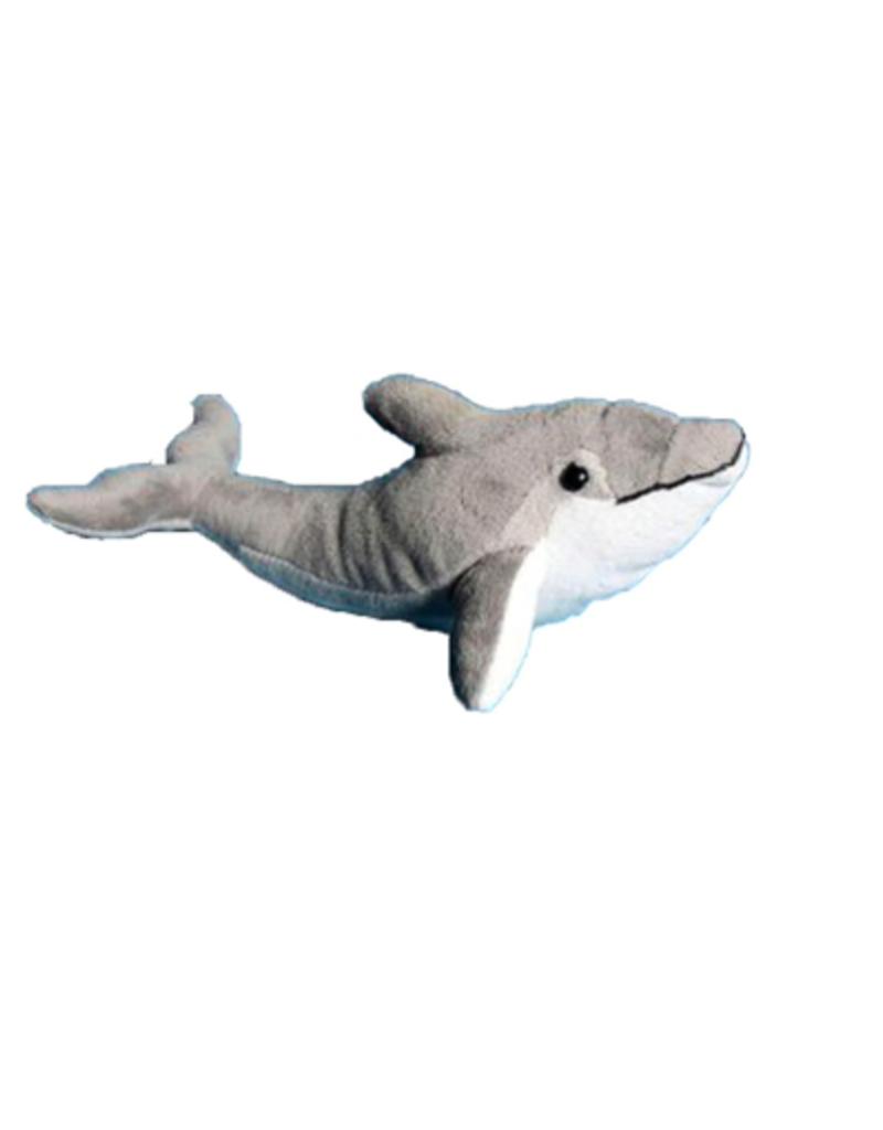 "Plush Gray Dolphin - 12"""
