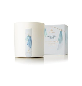 Thymes Washed Linen Poured Candle - 8 oz