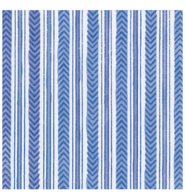 Caspari Carmen Stripe Blue Luncheon Napkins - 20 Per Package