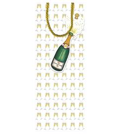 Caspari Bubbly Wine Bottle Bag - 1 each