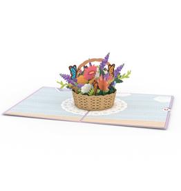 Lovepop Flower Basket Pop-up 3D Greeting Card
