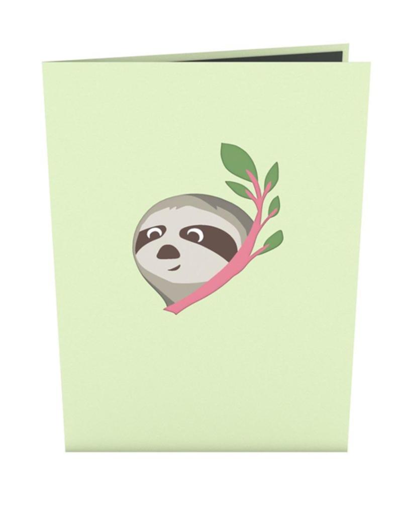 Lovepop Friendship Sloth Pop-up 3D Greeting Card