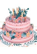 Lovepop Floral Birthday Cake Pop-up 3D Greeting Card