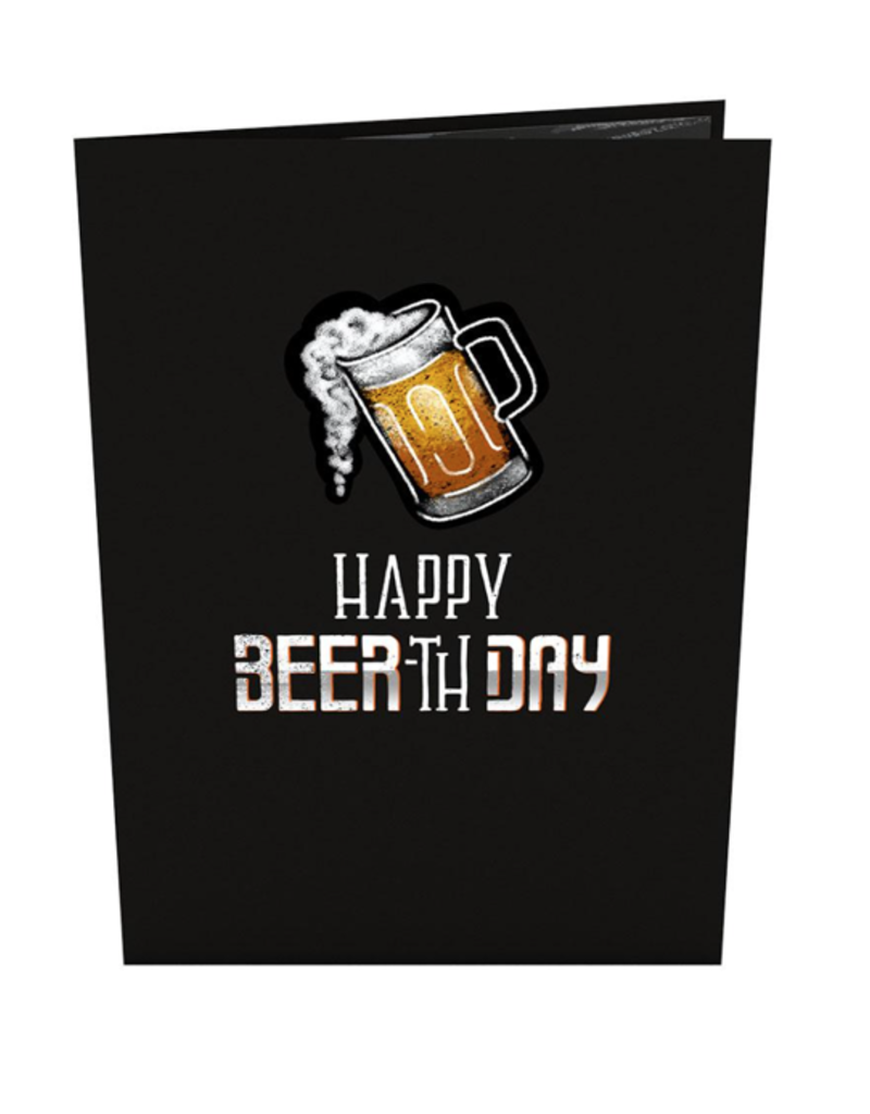 Lovepop Beer-th Day Pop-up 3D Greeting Card