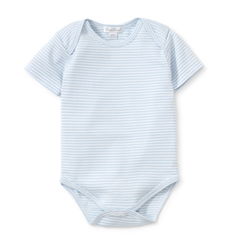 Kissy Kissy Simple Blue Stripes Short Sleeve Bodysuit - 0-3 Month