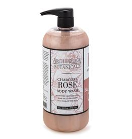 Archipelago Botanicals Charcoal Rose 33 oz. Body Wash