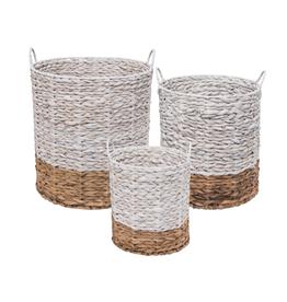 Ariana Natural Baskets White - Medium
