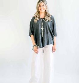 Lenore White Linen Pants - Large/X-Large