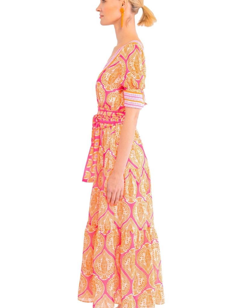 Gretchen Scott Designs Aix-en-Provence Midi Dress - Indian Summer - Large