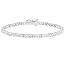 "Crislu Classic Small Princess Tennis Bracelet - 7"""