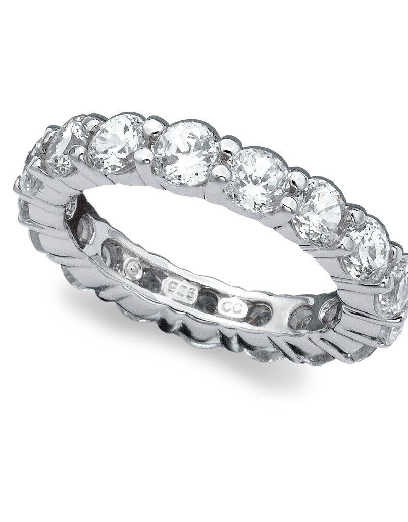 Crislu Brilliant Round Cut Eternity Band - Ring Size 7