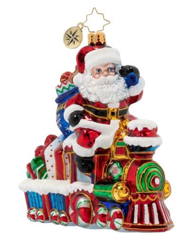Christopher Radko Christopher Radko - On The Tracks Santa