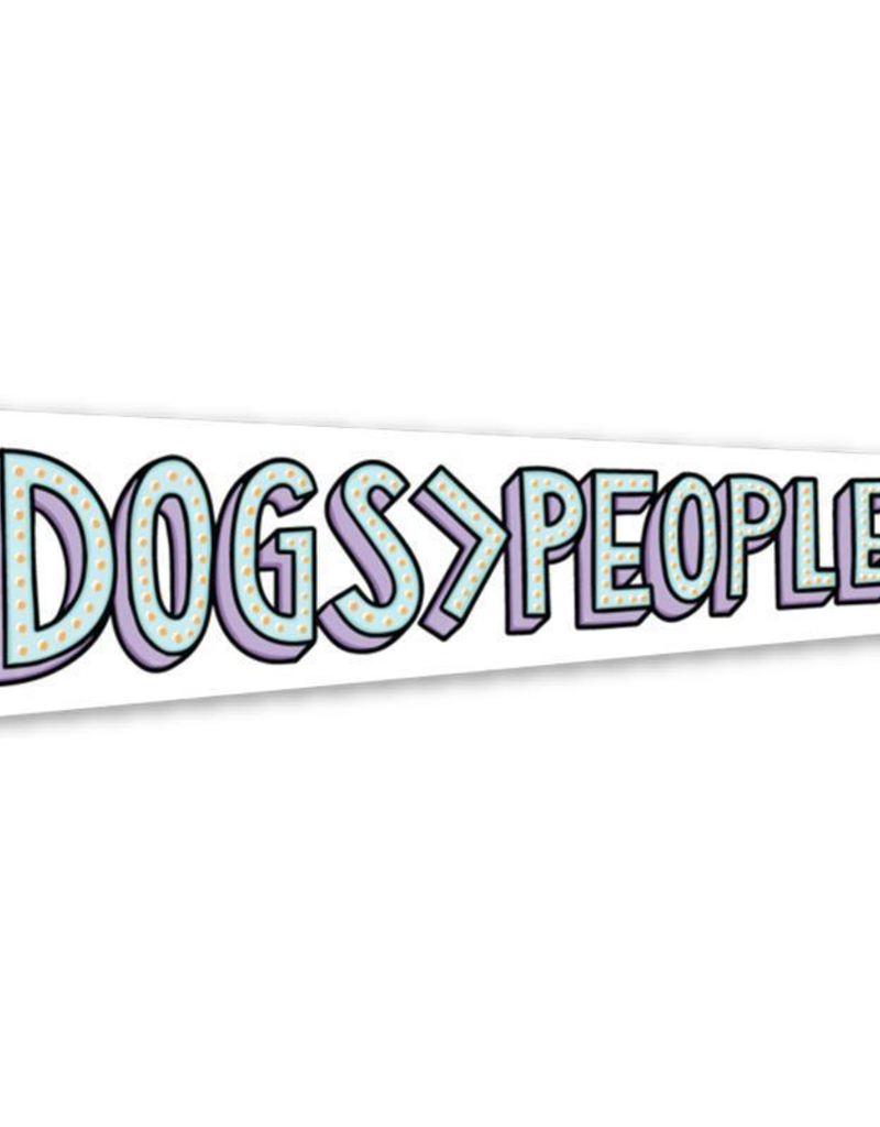Dogs > People Sticker